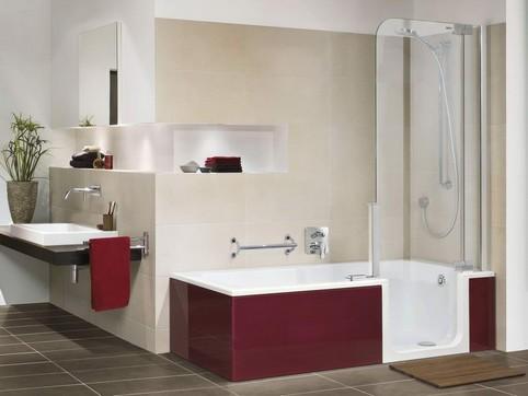 duschbadewanne mit t r. Black Bedroom Furniture Sets. Home Design Ideas